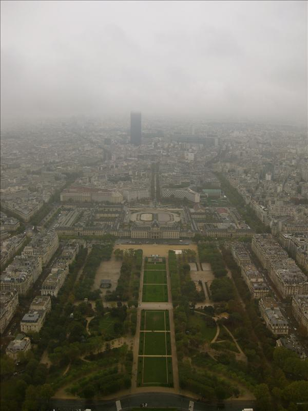 view from the top! a little foggy but amazing still!