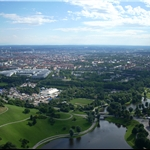 Olympic park and the city of Munich