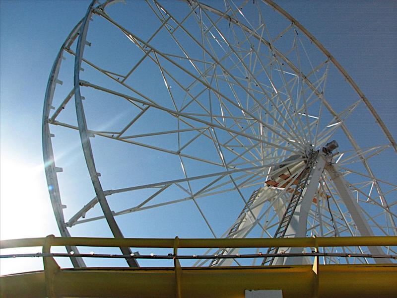 What's left of the Santa Monica Pier Ferris wheel they sold on Ebay