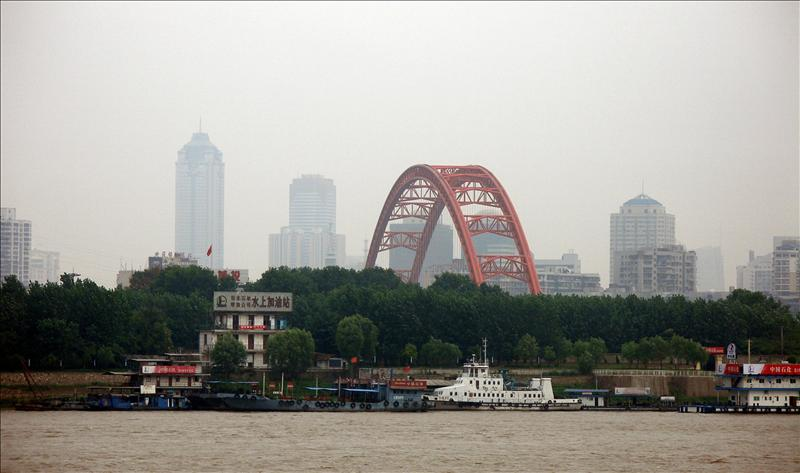 River fuel station in Wuhan