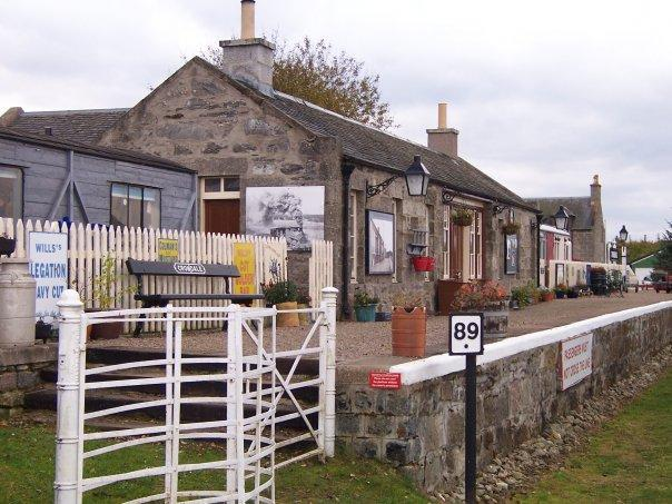 CROMDALE STATION, NEAR GRANTOWN-ON-SPEY, OCT 2007