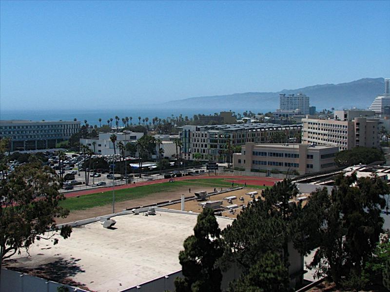 View from room in Hotel Sheraton Delfina in Santa Monica