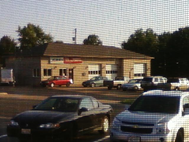 across the street is a typical auto repair facility