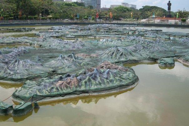 RIZAL PARK, MANILA - RELIEF MAP OF PHILIPPINES