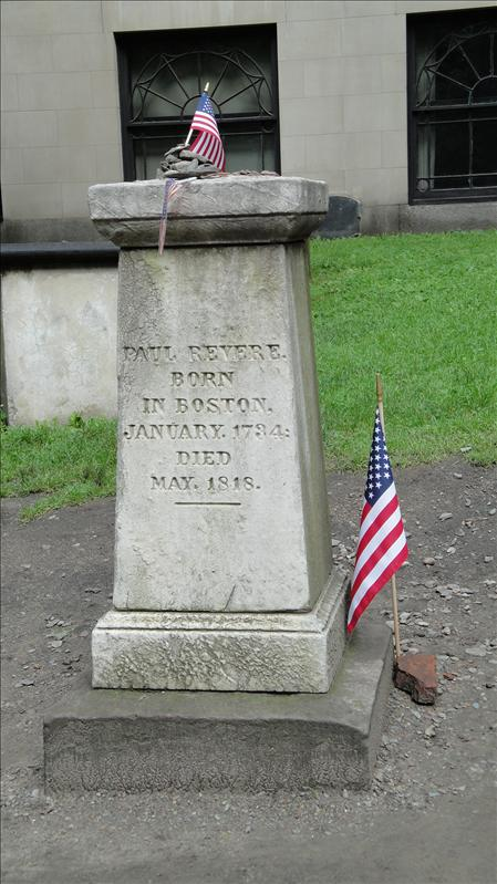Paul Revere Tomb Marker