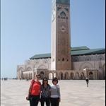 Devant la mosquée Hassan II