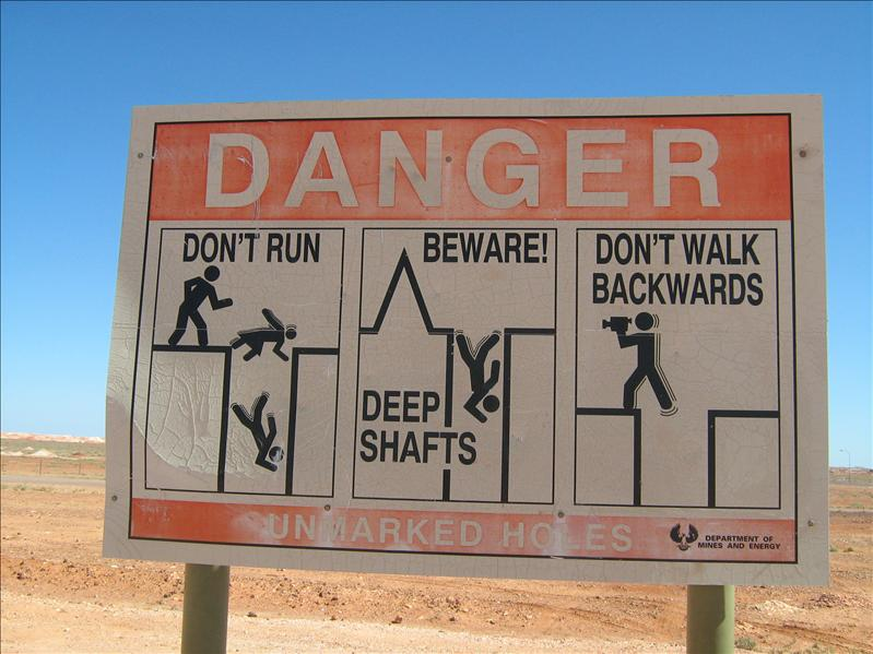 ha ha ha!!  Signs all around Coober Pedy