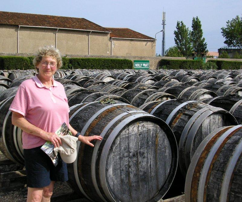 Vermouth ageing in the open air at Marseillan.