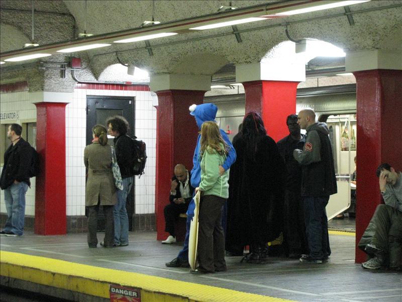 koekiemonster op t station