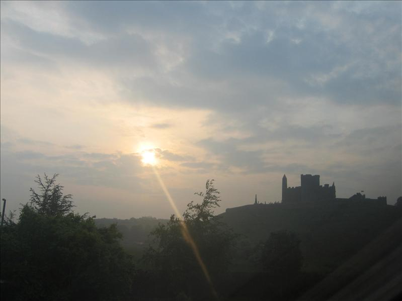 Rock of Cashel at 6am.. while Lisa runs