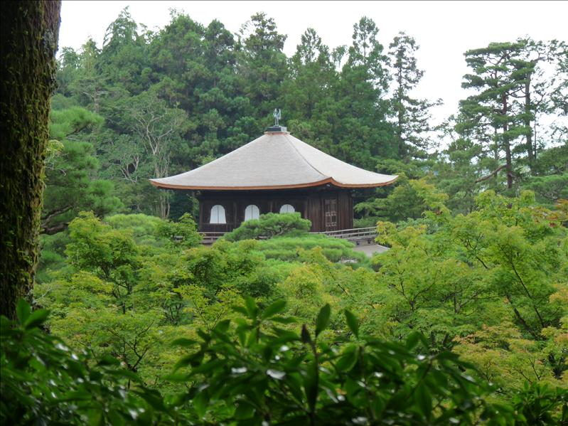 ginkakuji view from top levrel