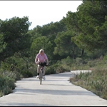 ... cycling in the nearby hills ...