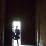 Jes in the doorway, mini doors!