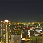Night view from Osaka Sky Buildingq