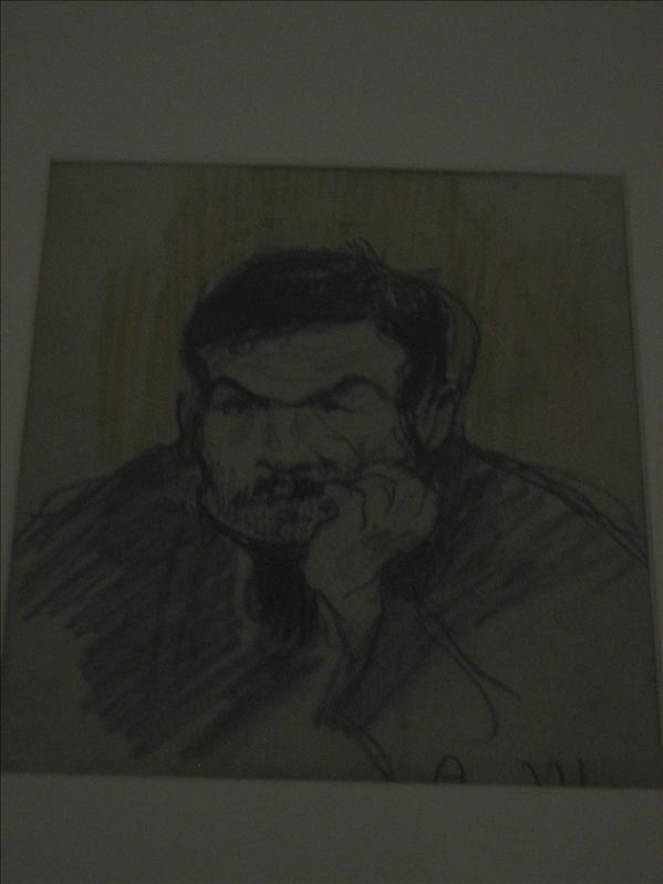 portrait done by Picasso. Went to the Picasso museum but not allowed to take pictures inside :(