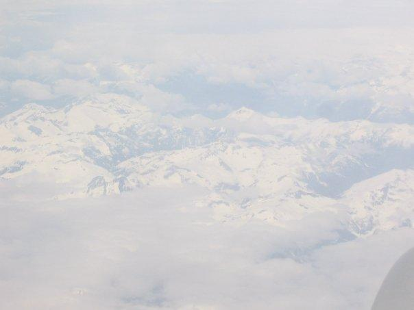 flying over alaska