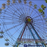 in Saint Louis, USA, a replica ferris wheel in Forest Park is HUGE