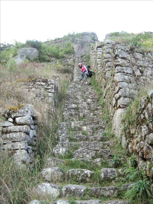 Steep steps at Intipata