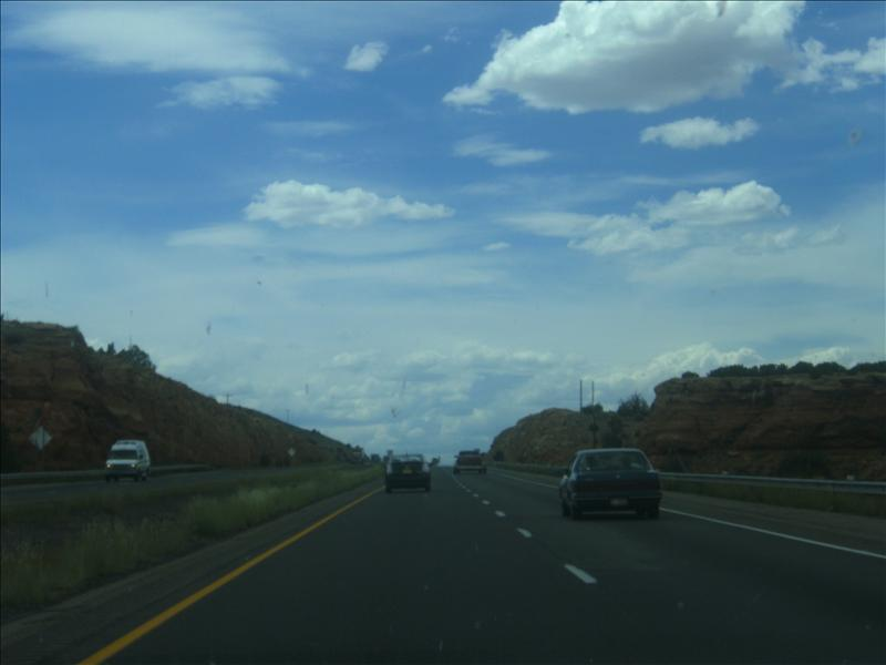 I-40 In New Mexico and Arizona provided spectacular scenery...