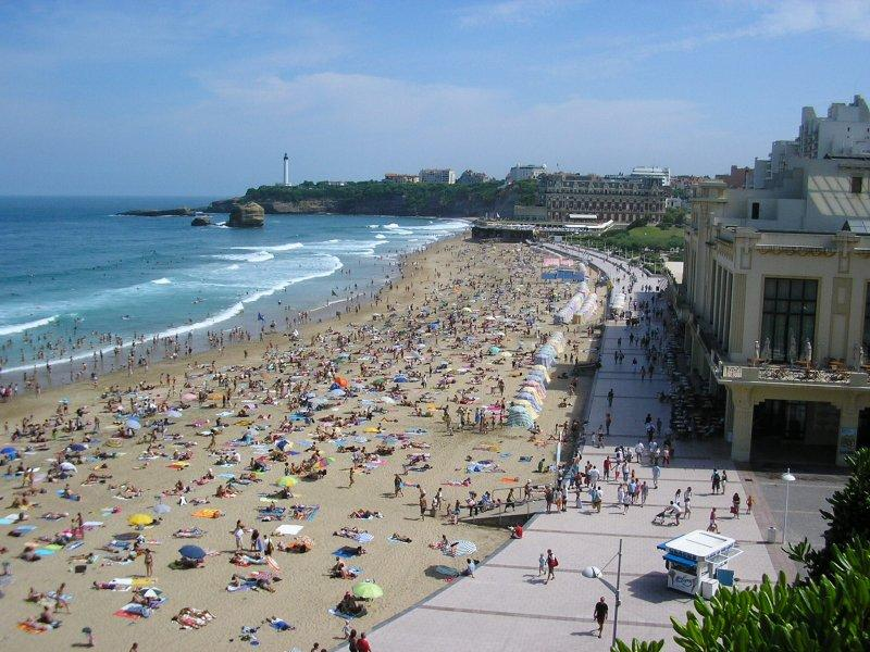 Next stop, one of the beaches at Biarritz...