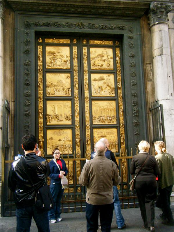 the baptistry doors