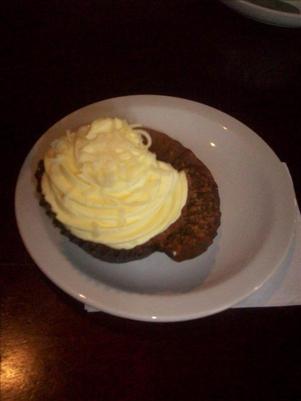 My delicious lemon cupcake, the first of TWO -_-