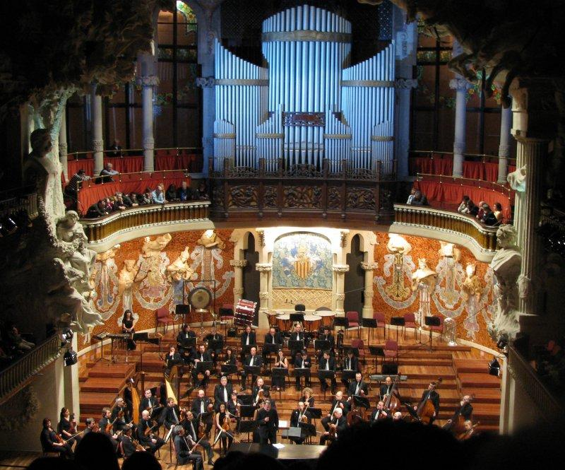 .. beautiful Palau de Musica Catalunya.
