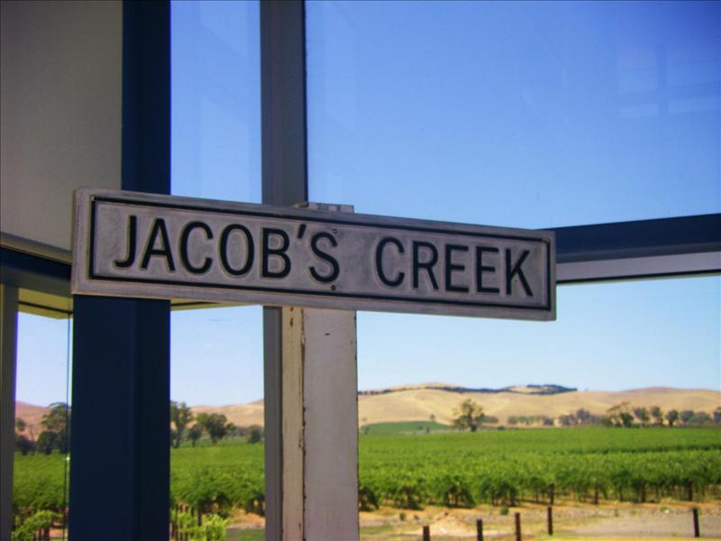 Wine tasting at Jacobs Creek.