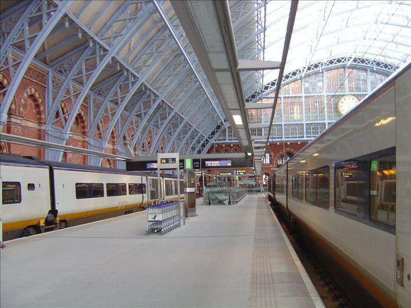Eurostar Bullet train station