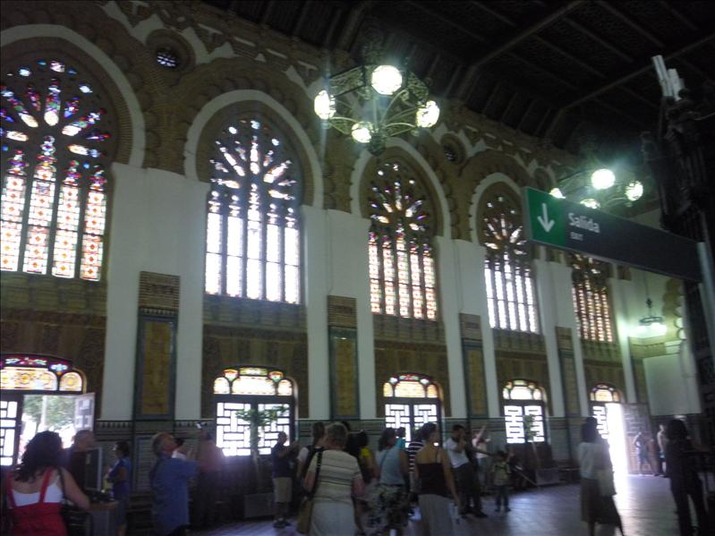 Interior of the train station.  It's probably the prettiest train station we saw on this trip.