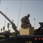 Me under cross swords in Baghdad, Oct 05