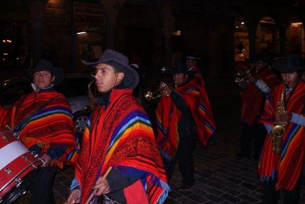 Some inca dance outside our dinner place
