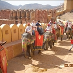 Amber Fort, elephant ride.