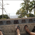 Hilo - In the back of Robbys Pick-Up, going body boarding