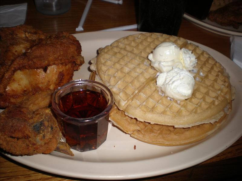 The Scoes Meal - my lunch Roscoes Sunset Blvd.