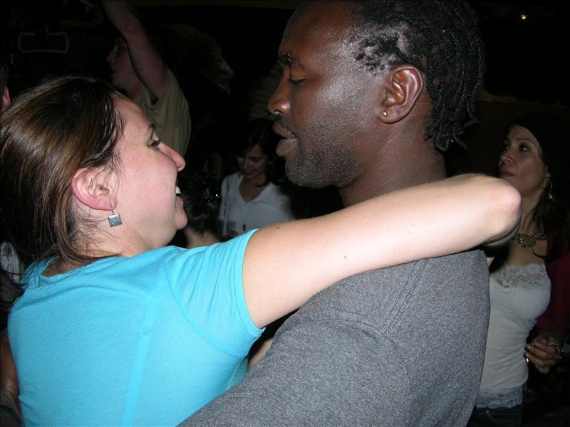 Liz and Festus.  This was F's going-away night.