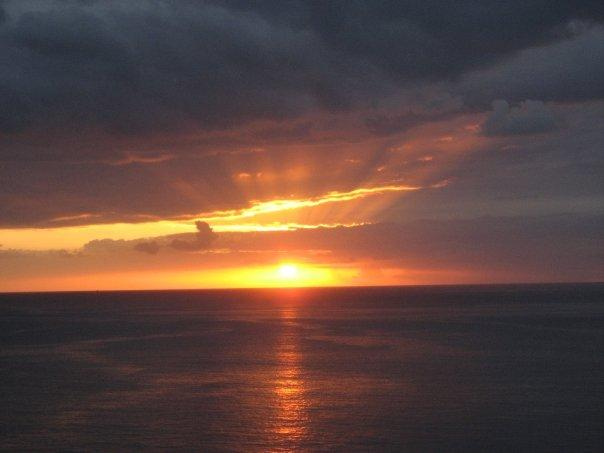solnedgang over los christianos en annen dag