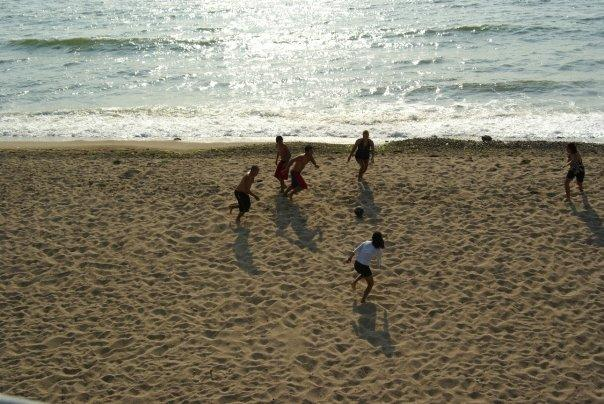 and of course, beach football...