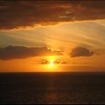 solnedgang over los christianos en tilfeldig dag