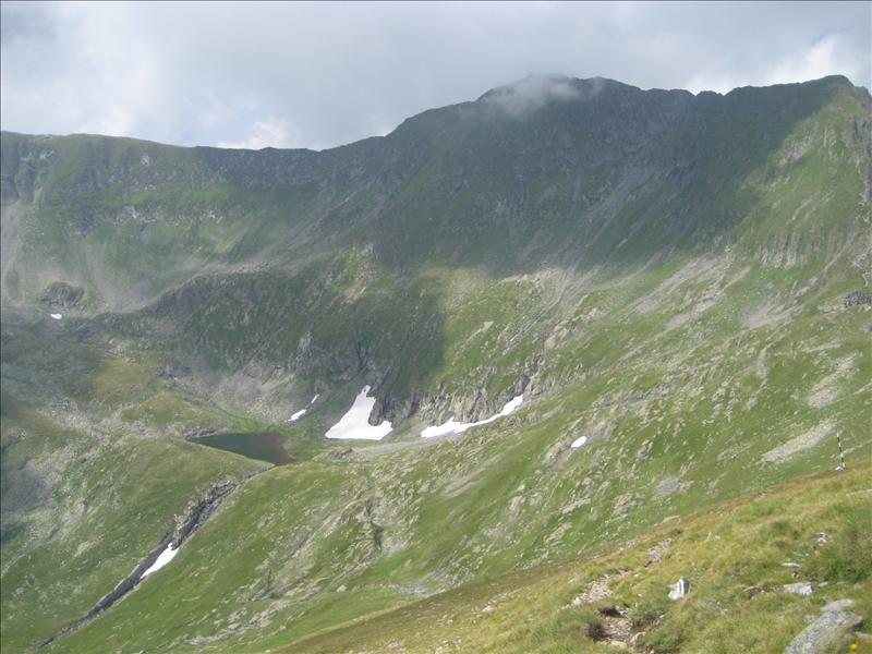 July snow, in Fagaras Mountains