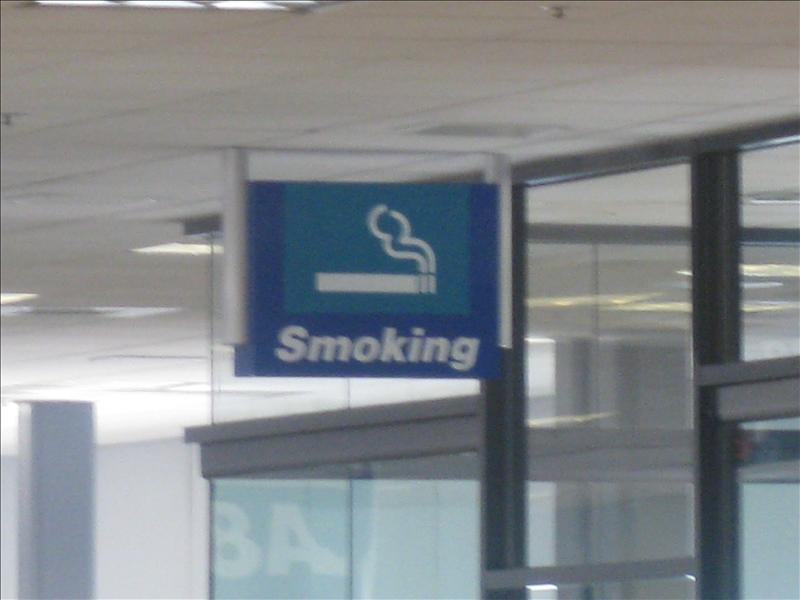 Hmmm Smoking allowed in the Airport