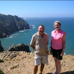 Mike with Judy at Cabo di Roca (most westerly point of mainland Europe)