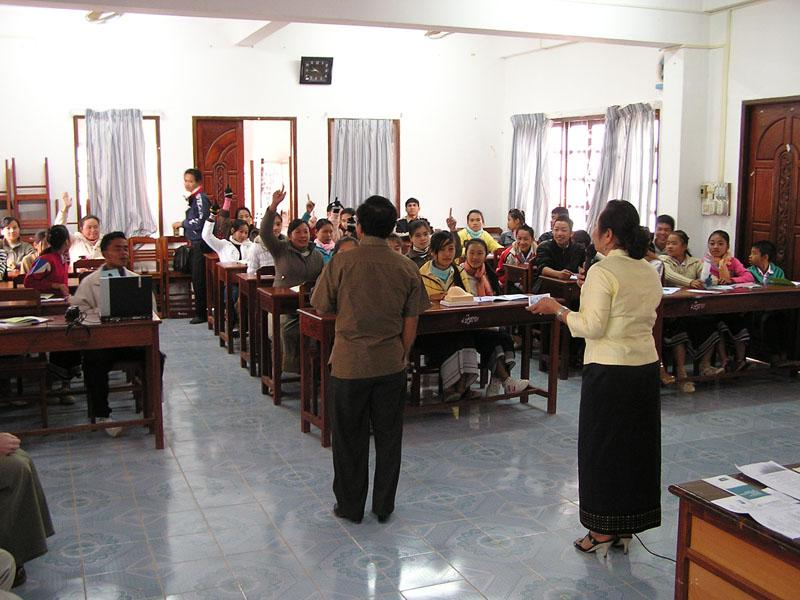 """We took part in a 3-4 day teaching """"workshop"""" with 18 of the top students from schools of surrounding villages, and an additional 20 teachers."""