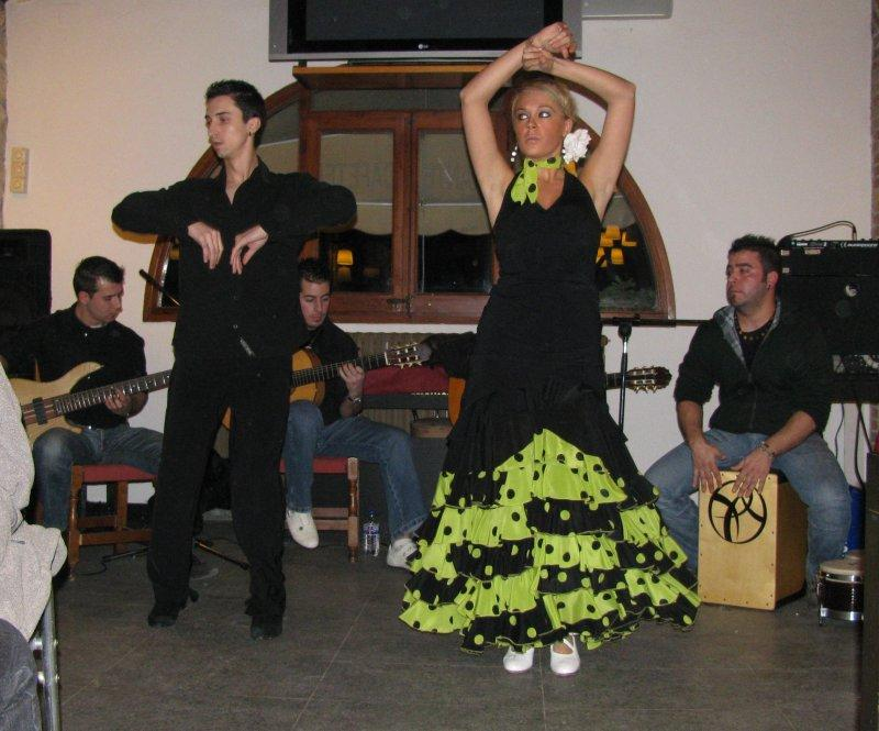 Campsite entertainment was a flamenco evening ....