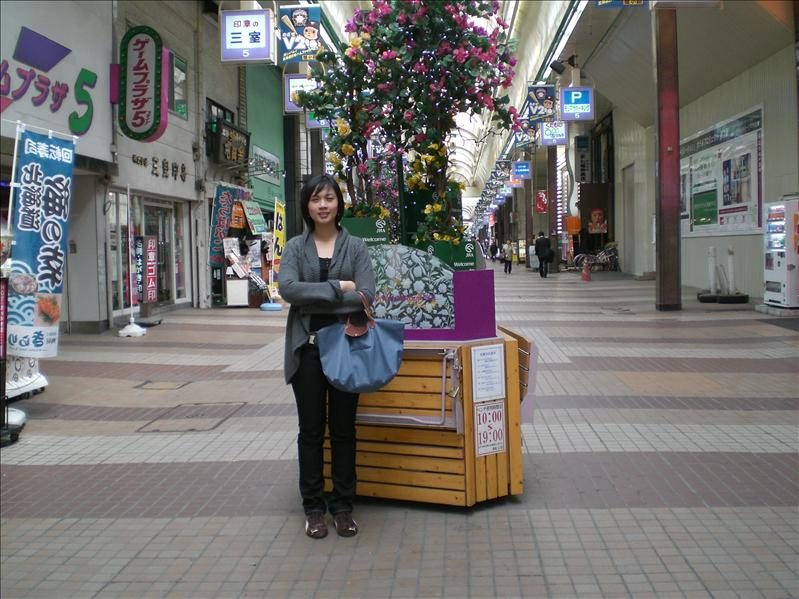 Shopping street in Sapporo