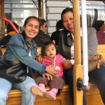 miniaflor @ daughter, my new friend Lene in a cable car
