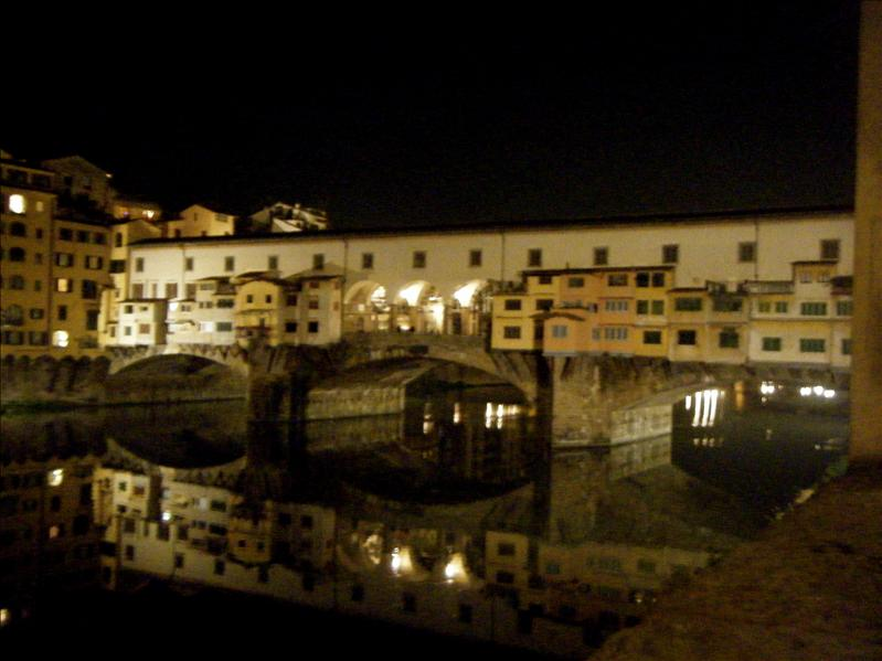 the ponte vecchio bridge that has all jewelry shops on it (in florence)