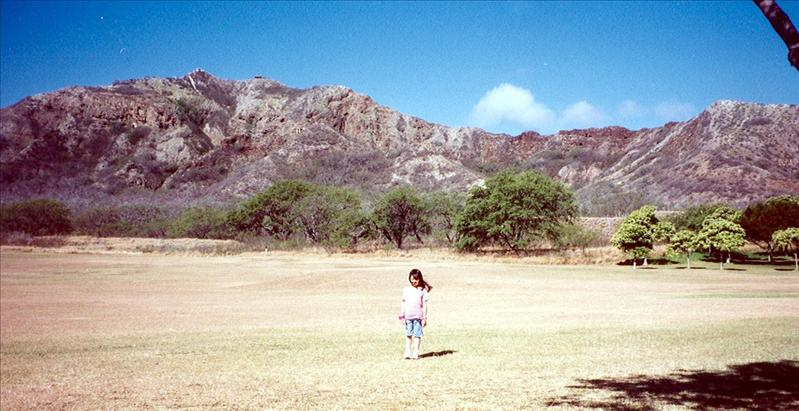 Inside Diamond Head's crater