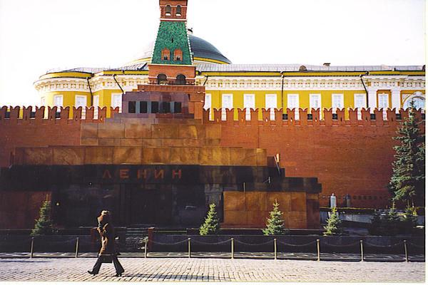 Red Square, Moscow 2002. Lenin wasn't accepting any visitors. Bummer!