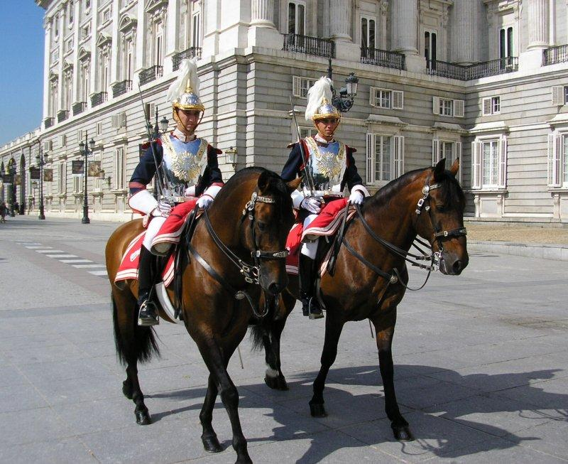 First the mounted guard......